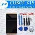 CUBOT X15 ЖК-Дисплей + Сенсорный Экран в Исходном Дигитайзер Стеклянная Панель Замена Для CUBOT X15 MTK6735A 1920X1080 FHD 5.5 inch-Золото