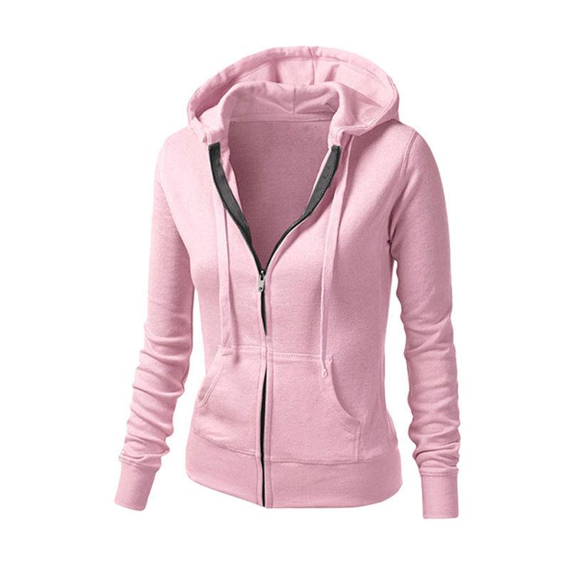 Sleeve Up amp; Sweatshirt Outerwear 24 Fitness Workout Long Zip Hoodies 10 Jackets Tops-in Zipper Us 2016 Jacket Hat Hoodie Women