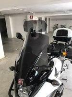 Motorcycle Risen Smoke Windshield Bracket Set Screen Protector Adjustable Lockable For BMW Kawasaki Honda Harley