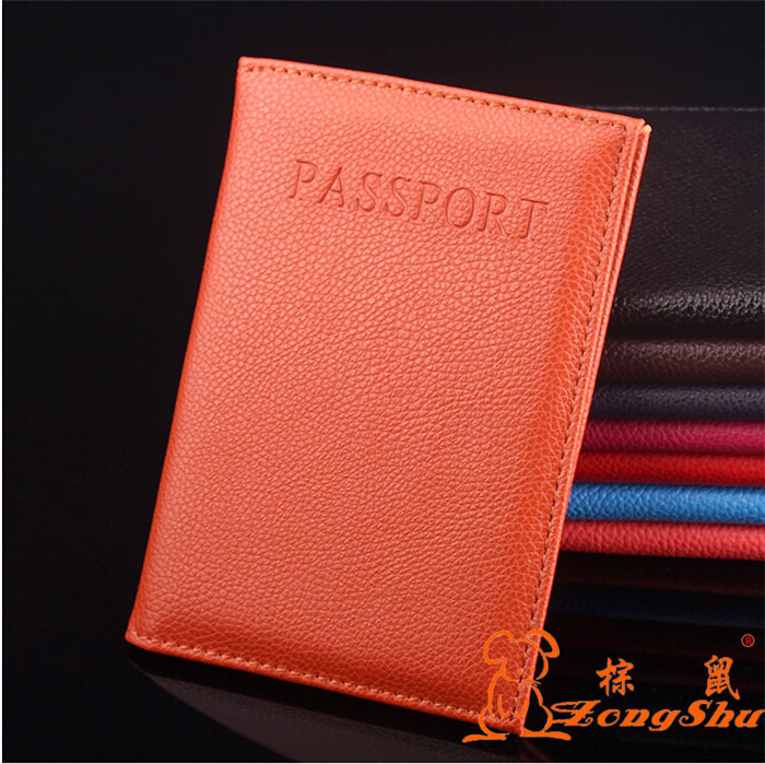 Good Quality Faux Leather Business Men&Woman Passport Cover Hot Selling ID Card Holder Travel Wallets Passport Holder 9 Colors
