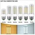 Hot 25 W E27 E14 LED Milho Spotlight Vela lâmpada do bulbo Global Comercial interior luz Quente Pure white 220 V 230 V 240 v 72 PCS SMD5730