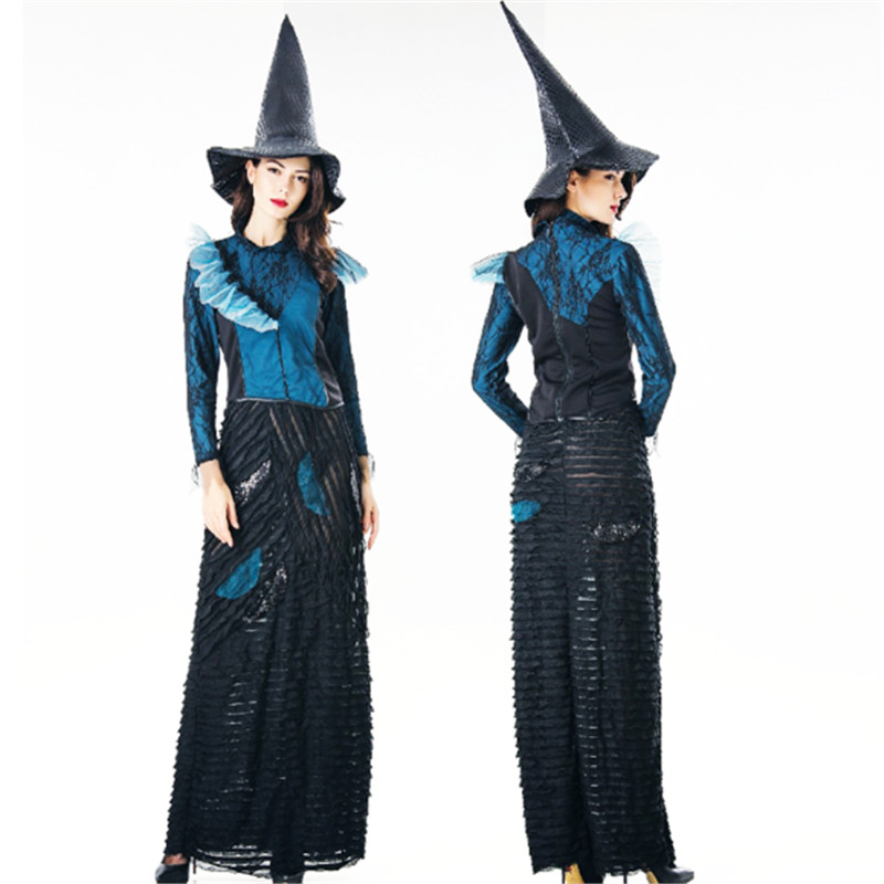 luxurious Sexy Witch Dress Trendy Masquerade Costumes Party Witch Cosplay Costume princess Peculiar queen Costumes Halloween