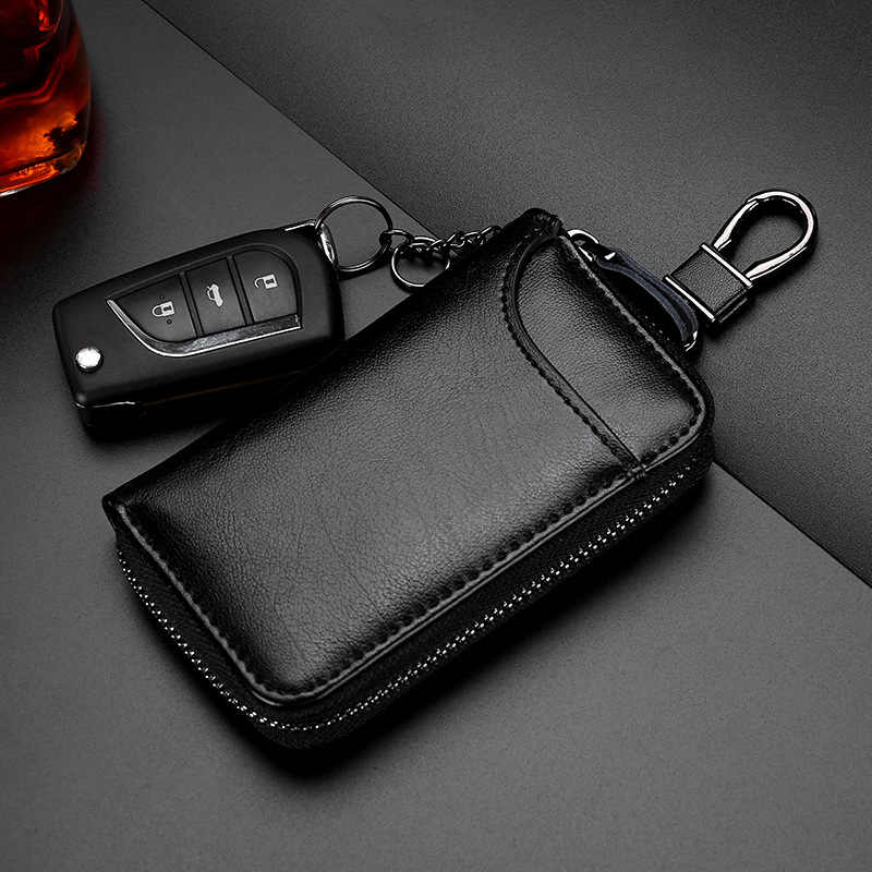 TRASSORY אמיתי עור Keychain מחזיק פאוץ ארנק מפתח כיסוי תיק אופנה גברים מפתח מחזיק ארגונית רכב מפתח מקרה