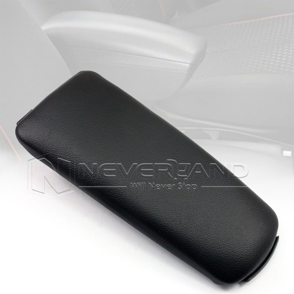 New Car Armrest Box Console Cover Lid Leather For Audi A4 B6 4 Door 2002-2007 Black Free Shipping D05