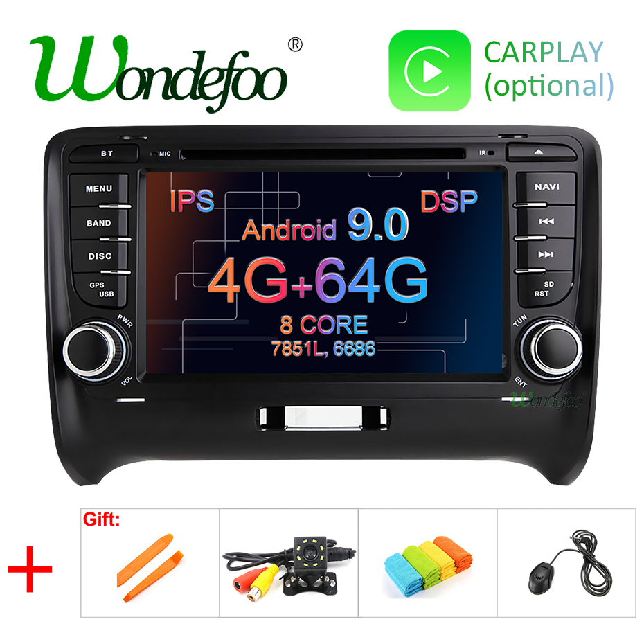 DSP IPS 4G 64G Android 9 0 2 DIN Car DVD GPS For Audi TT MK2