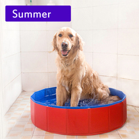 Summer dourable large PVC foldable dog cat pet swimming pool bathtub for small dog and cat Teddy pet products