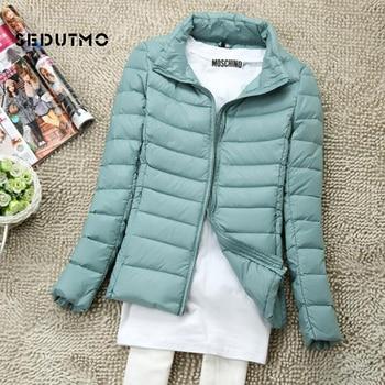 SEDUTMO Winter Women Down Coat Short Ultra Light Duck Down Jackets Slim Puffer Jacket Autumn Parkas ED660 1