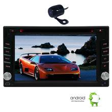 2din Car Stereo Capacitive Touchscreen Android 6.0 Car DVD Player 2din Unit with GPS Navigation Car Audio DVD Wifi+Backup Camera