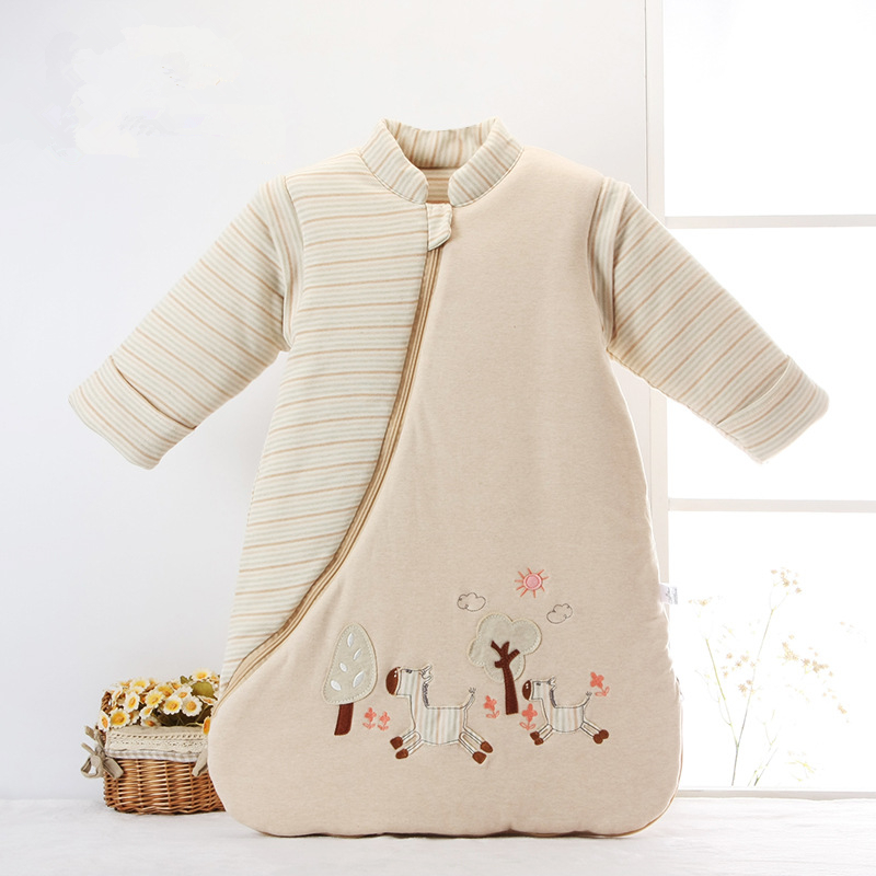 Newborn Sleeping Bag Spring And Autumn Winter Cotton Mushroom Sleeping Bag Baby Anti-kick Baby Cotton Sleeping Bag