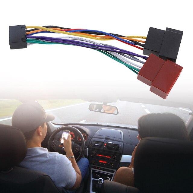 Adaptador arnés de Cable de coche para Kenwood / JVC estéreo para coche Radio ISO estándar, adaptador de conector de 16 Pines, Plug Play, 1 Uds.