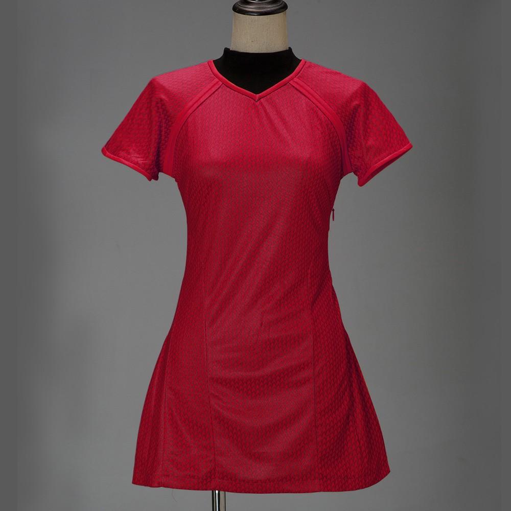 Cosplay Star Trek Into Darkness Star Fleet Uhura Costume Dress Cosplay  Red Halloween Uniform2