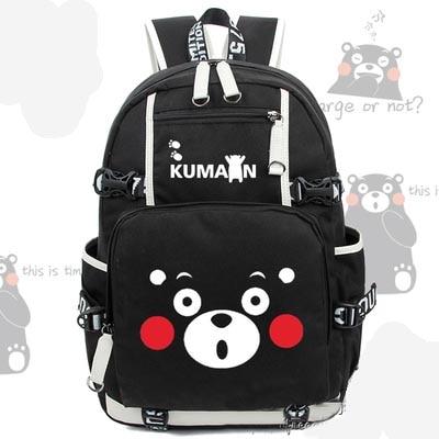 Sac à dos mignon KUMAMON ours sac en toile cartable sacs de voyage