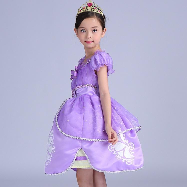 Sofia Princess Dress Kids Cosplay Costumes Girls New Arrival: Sofia Princess Summer Dresses Girls Sofia Cosplay Costume