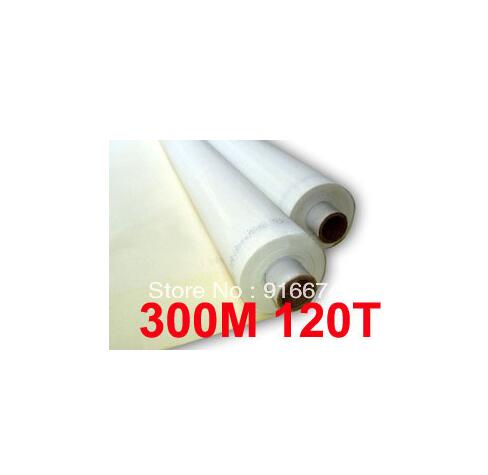 Free shipping  5 meters 120T 300M white color polyester silk screen printing mesh 120T 127CM width fast free shipping discount 16x20 inches silk screen printing stretcher self tensioning self stretching frame t shirt printer