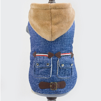 Autumn Winter New Style Leather Buckle Casual Pet Coats Thickening Cashmere 2 Legs Pet Dog Jacket