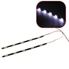 2Pcs Set LED Car DRL Daytime Running Lights Auto Fog Lamps DC 12V Waterproof 15 SMD
