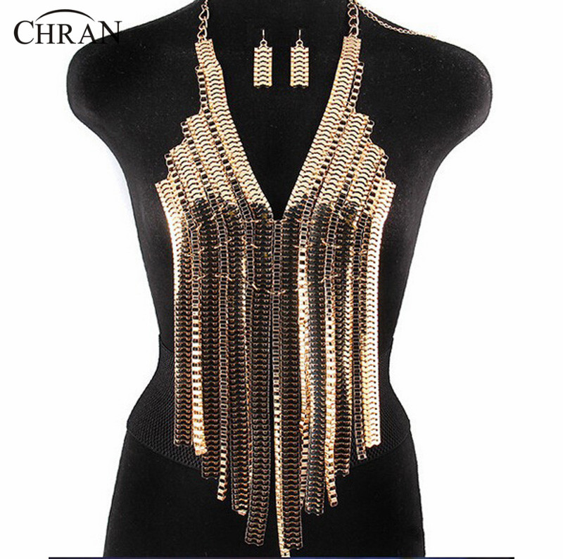 Chran New Fashion Stunning Sexy Body Belly, Silver Gold ...
