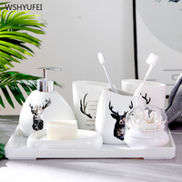 Direct European style integrated crack ceramic bathroom five piece toilet toothbrush cup mouth cup brush tooth cup wash set