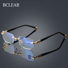 BCLEAR-lunettes de lecture sans bords pour femmes et hommes, lentille transparente, Anti-rayons, pour ordinateur, presbytie, 1.0 1.5 2.0 2.5 3.0