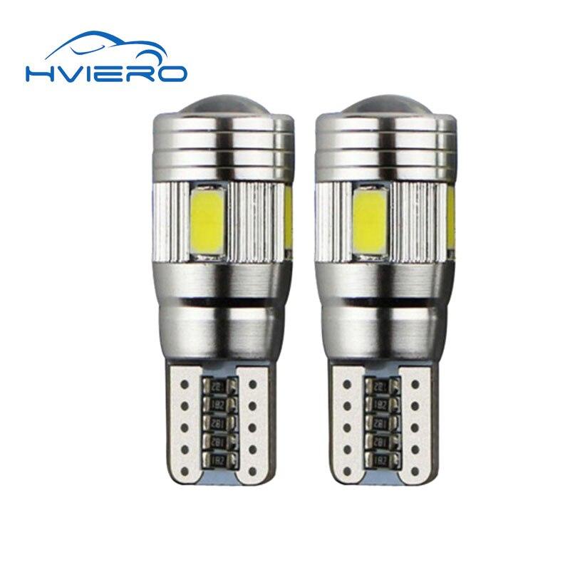 2pcs t10 w5w 6 smd car led canbus blub auto Interior light fog lamp brake Turn Signal wedge side 12V 5w5 5630 5730 6SMD цена