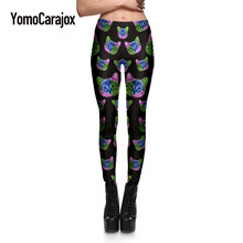fbd4e2061470ce HOT Sexy Fashion Slim Pirate Leggins Pants cat head digital printing  leggings female personality high quality plus size