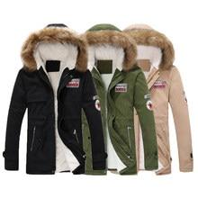 deccde2e7d0fa Парка для мужчин пальто для будущих мам 2018 зимняя куртка Тонкий Сгущает  Мех животных верхняя одежда