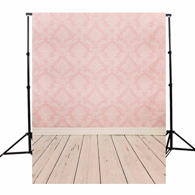 Durable 5X7 FT Pink Board Wood Floor Photography Background Photographic Backdrop For Studio Photo Prop cloth 1.5x2m 5 x 7 ft pink love hearts print photo backdrop for wedding party portrait photography studio background s 1305