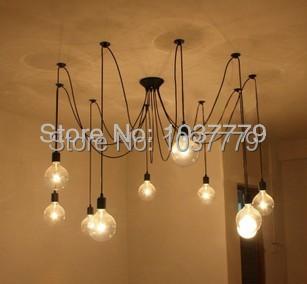 6 - 8 - 10 braço Edison filamento lâmpadas ferro lâmpada pingente lâmpadas