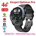 KOSPET Optimus Pro 3 ГБ 32 ГБ 800 мАч батарея двойные системы 4G Смарт часы телефон водонепроницаемый 8.0MP 1,39