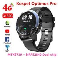 KOSPET Optimus Pro 3 ГБ 32 ГБ 800 мАч батарея двойные системы 4G Смарт часы телефон водонепроницаемый 8.0MP 1,39 Android7.1.1 smartwatch для мужчин