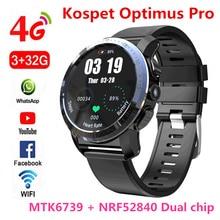 KOSPET Optimus Pro 3 ГБ 32 ГБ 800 мАч батарея двойные системы 4G Смарт часы телефон водонепроницаемый 8.0MP 1,39 «Android7.1.1 smartwatch для мужчин