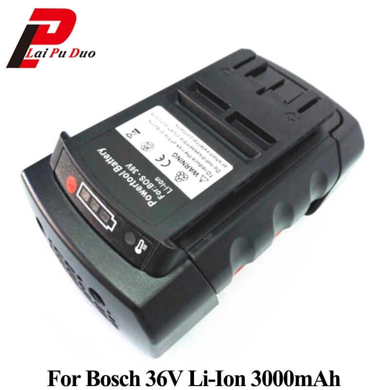 36 V 3.0Ah Li-Ion batterie de rechange pour Bosch: 2607336003, BAT810, 11536C, BAT837, 2607336107, D-70771, 1651 K36 V 3.0Ah Li-Ion batterie de rechange pour Bosch: 2607336003, BAT810, 11536C, BAT837, 2607336107, D-70771, 1651 K