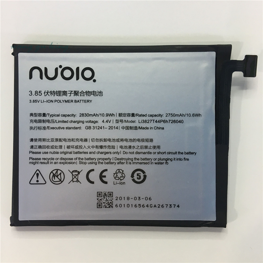 100% Original Neue 3,85 v 2830 mah Li3827T44P6h726040 Für ZTE Nubia Z11 Mini NX529J Batterie