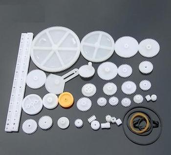 34 Kinds Plastic Shaft Rack Reduction Worm Gears Belt Pulley DIY For Robot yn15v00037s004 travel reduction unit sun shaft for kobelco sk200 8