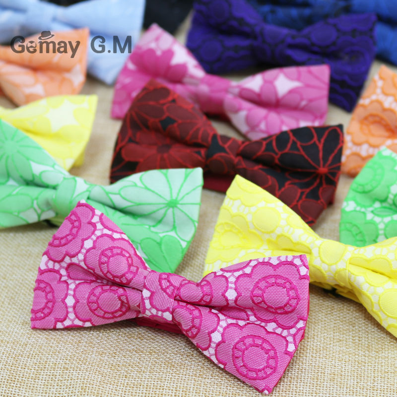 Newest Fashion Flower Polyester Woven Man Bowtie Adjustable Wedding Groom Bow Ties High Quality Bowties for Men