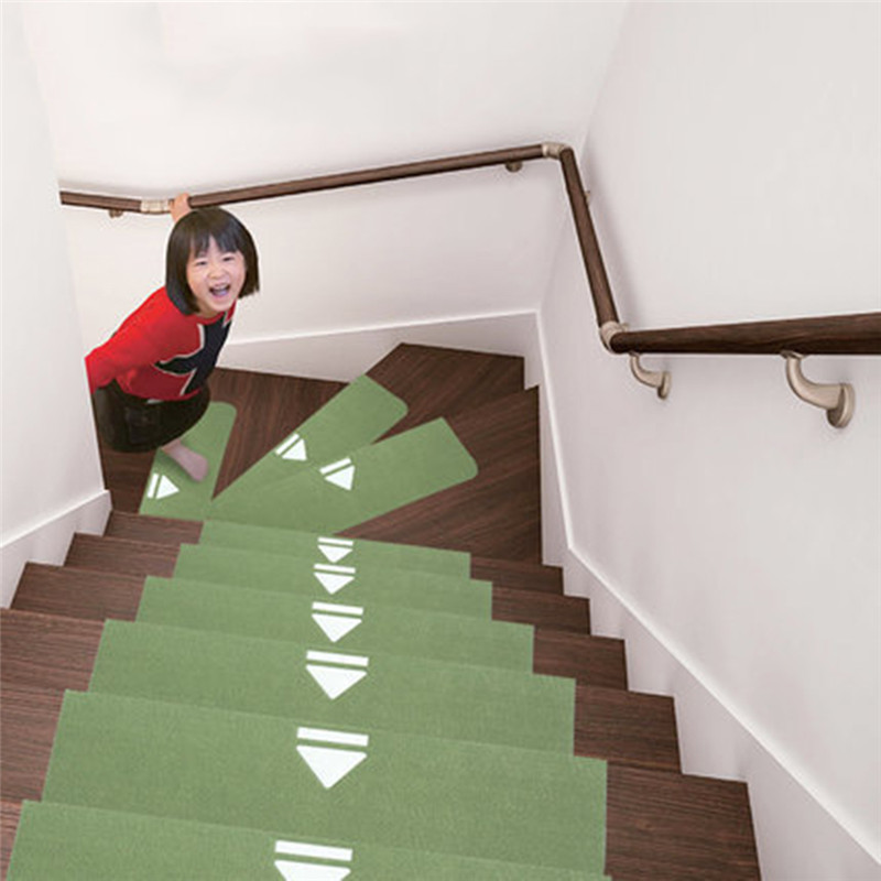 5pcs/set Stair Carpet Sets Slip Resistance Tread Mats Rugs for Stair Step Anti-skid Mat Fit For 20cm 22cm 24cm Width Stairs