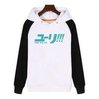 Yuri on Ice the big title anime cartoon Hoodies fashion men women Sweatshirt Streetwear Thick Hoodie Sportswear GA509