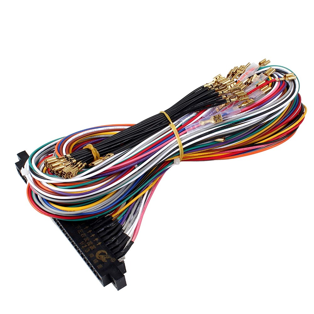new jamma 56 pin interface cabinet wire wiring harness board cable for arcade machine video game consoles pandora box 2 3 4 game in replacement parts  [ 1000 x 1000 Pixel ]