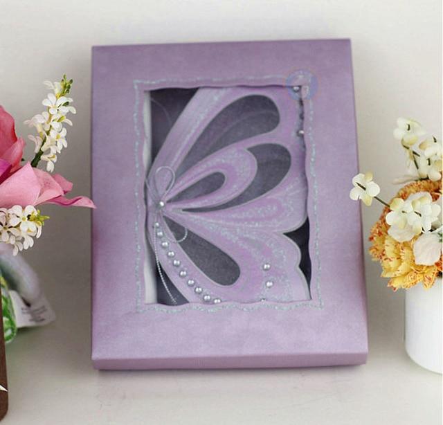 Purple Elegant Butterfly Party Wedding Invitations with Blank – Elegant Butterfly Wedding Invitations