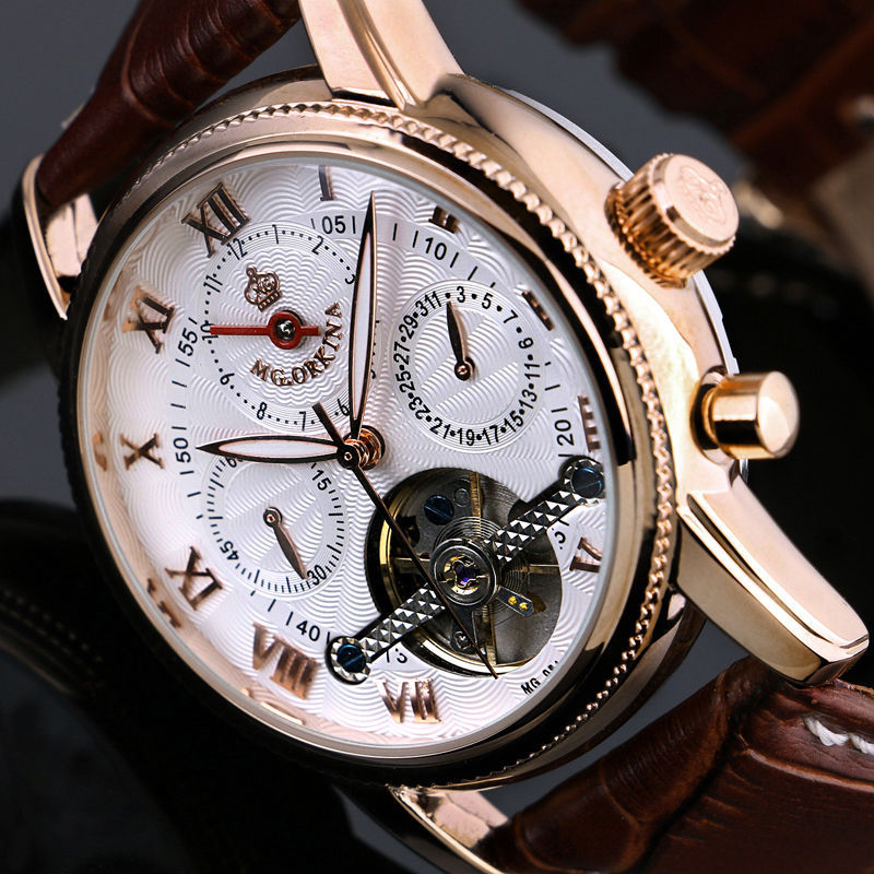 Orkina 2015 New Gold Rose White Month Date Day Automatic Mechanical Mens Watches Top Brand Luxury Automatic Watch скейт hudora rockpile carving slalom freeride