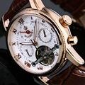 Orkina 2015 Novo Ouro Subiu Mês Branco Data Dia Mecânico Automático Mens Relógios Top Marca de Luxo Relógio Automático
