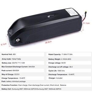 Image 5 - Bafang Kit de conversión de Motor de tracción media BBS02B de 48V y 750W con batería, KitLock, batería de bicicleta Samsung de 12AH/17,5ah