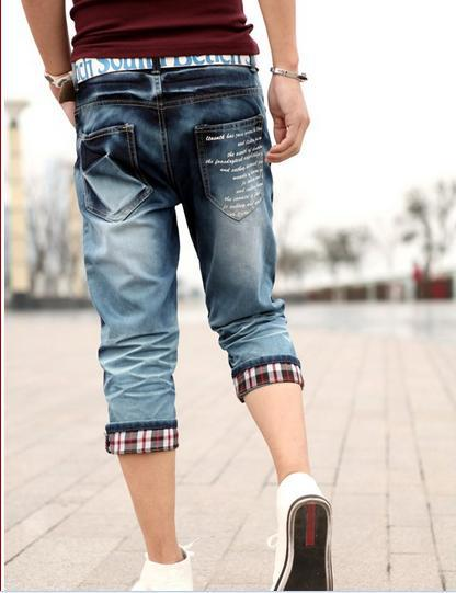Spring summer jeans male men's capris denim jeans-in Jeans from ...