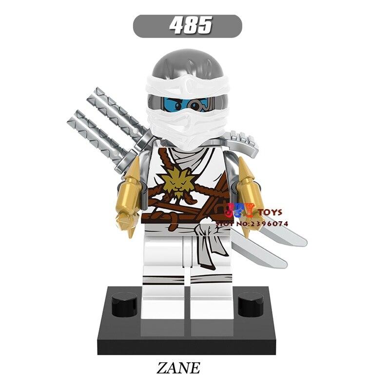 50pcs Star wars super heroes model Marvel Ninja Zane Titanium weapons building block for girls house hobby games children toys