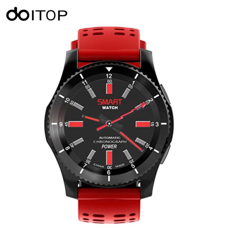 DOITOP GS8 montre intelligente Sport montre-bracelet mesure de la pression artérielle podomètre de fréquence cardiaque GPS carte SIM pour Smartphones IOS Android