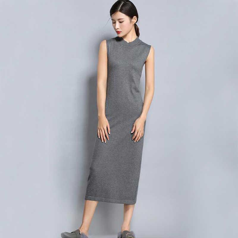 0d4df1bd7e4 Лидер продаж кашемира водолазка длинное платье Для женщин оптовая продажа  Топ базовый скидка кашемировое платье ksr57