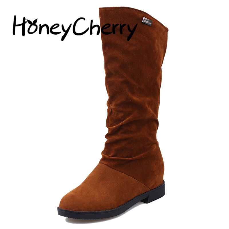 Womens Boots Europe Autumn And Winter Fashion New 2018 Long Tube Flat Bottom Solid Color Plus Velvet Warm Knight BootWomens Boots Europe Autumn And Winter Fashion New 2018 Long Tube Flat Bottom Solid Color Plus Velvet Warm Knight Boot