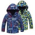 Chaqueta de los muchachos Para la Primavera Otoño Abrigo Con Capucha de Lana Para Niños 4-15Years Niños Trench Coat Chaqueta Cazadora de Moda Nino