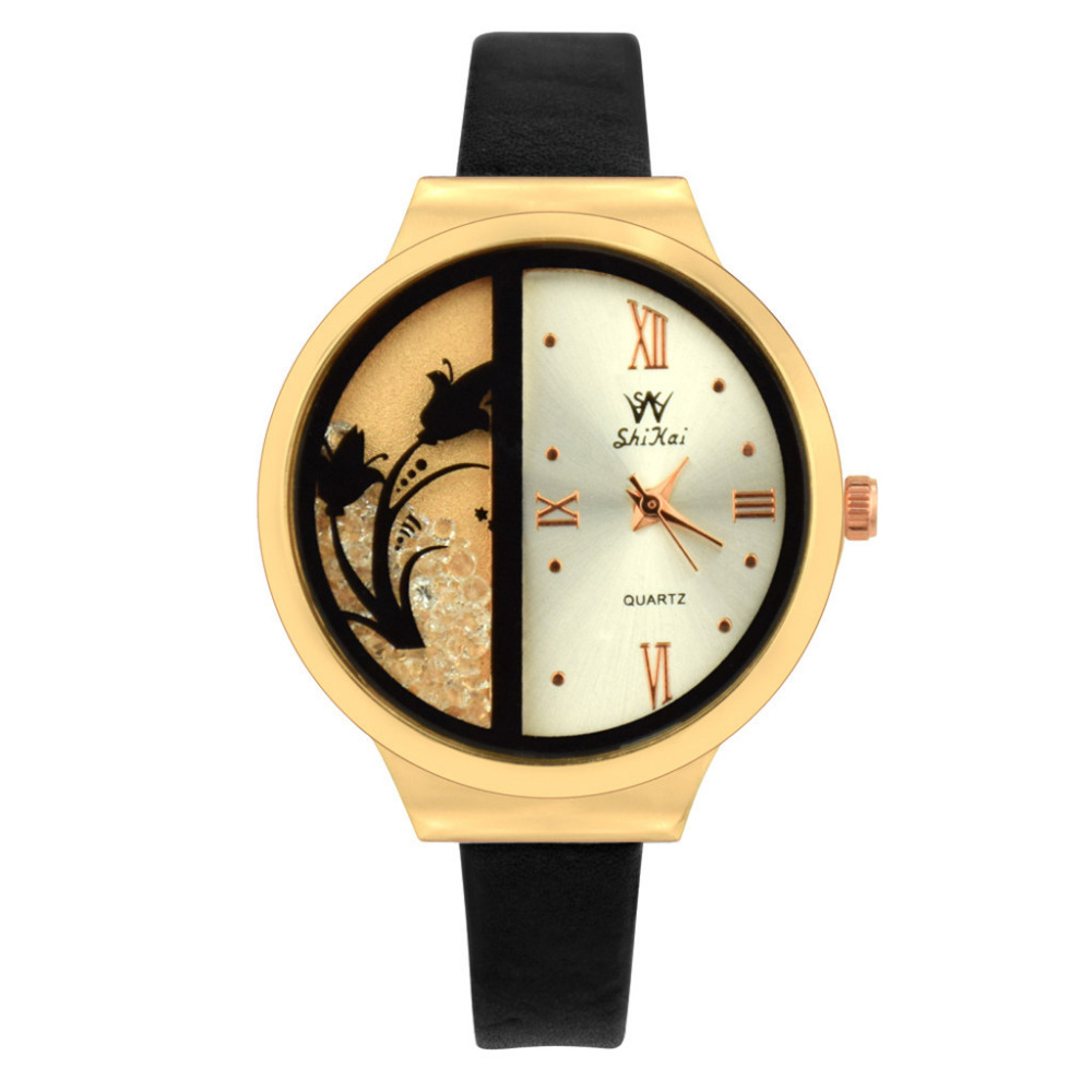 Fashion Quartz Watch Women Watches Brand Luxury Large Dial Creative Quicksand Design Clock Watch Ladies Quartz Wrist Watch #WFashion Quartz Watch Women Watches Brand Luxury Large Dial Creative Quicksand Design Clock Watch Ladies Quartz Wrist Watch #W