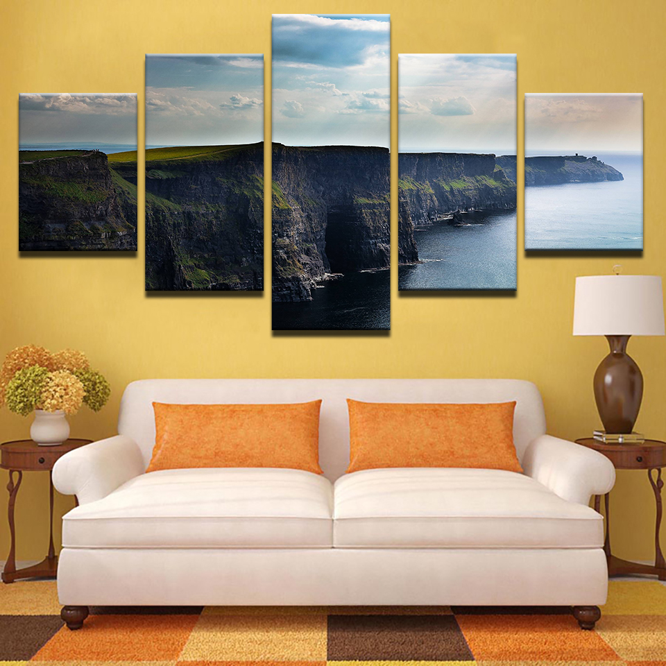 Canvas Painting Wall Art HD Prints Home Decor 5 Pieces Blue Sky ...